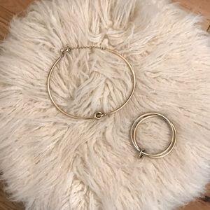 Choker necklace and bracelet